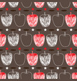 apple sketch-fruit delight seamless repeat pattern vector image
