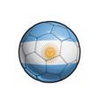 argentinian flag football - soccer ball vector image vector image