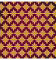 Background Purple yellow Thai pattern vector image vector image