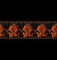 baroque seamless border pattern luxury floral