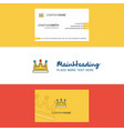 beautiful crown logo and business card vertical vector image