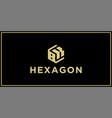 bk hexagon logo vector image vector image