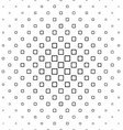 Black and white abstract square pattern design vector image vector image
