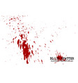 blood splatter elements on white background vector image vector image
