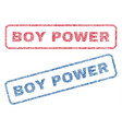 boy power textile stamps vector image vector image