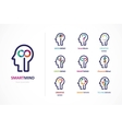 Brain Creative mind learning and design icon