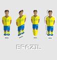 Brazil Soccer Team Sportswear Template vector image vector image