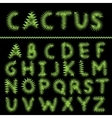 Cactus letter set vector image vector image