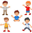 cartoon boys collection set vector image vector image