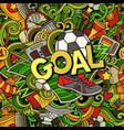 cartoon cute doodles hand drawn goal vector image vector image