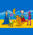 cartoon fantasy characters group vector image vector image