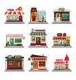 colorful city buildings set vector image