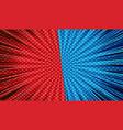 comic versus bright template vector image vector image