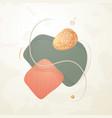 creative minimalist hand drawn abstract vector image