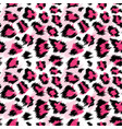 fashionable pink leopard seamless pattern vector image