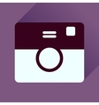 Flat icon with long shadow retro camera vector image vector image