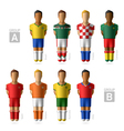 Footballers soccer players Brazil 2014 vector image