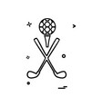 golf icon design vector image vector image