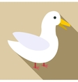 Goose icon flat style vector image vector image