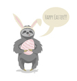 happy cute cloth with bunny or rabbit ears on his vector image