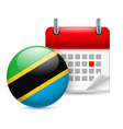 Icon of national day in tanzania vector image vector image