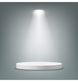 Illuminated round pedestal vector image vector image