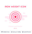 iron weight icon isolated on white vector image vector image