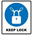 Keep locked sign vector image vector image