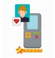 love video game portable boy character vector image vector image