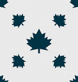 Maple leaf icon Seamless pattern with geometric vector image vector image
