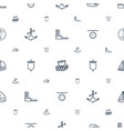 nautical icons pattern seamless white background vector image vector image