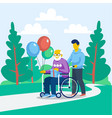 older person day concept vector image vector image