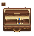 open business briefcase in realistic style vector image