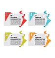 Origami Banners - Infographic Concept vector image vector image