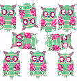 owls abstract nature fauna seamless pattern it is vector image
