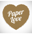paper love vector image vector image