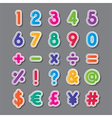 paper numbers and symbols vector image vector image