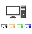 personal computer icon vector image vector image