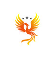 phoenix bird best for mascot or logo with using vector image vector image