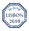 postal stamp from lisbon vector image vector image