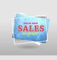 quote sale banner with polygonal triangles 3d vector image vector image