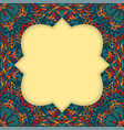retro boho floral frame two vector image vector image