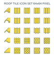 roof tile icon vector image vector image