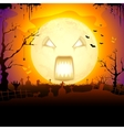 Scary Monn in Halloween vector image vector image