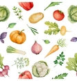 Seamless pattern with watercolor vegetables vector image vector image