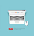 search browser bar on top view laptop screen flat vector image vector image