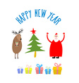 Set icons for happy Christmas and new year vector image vector image