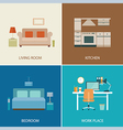 set of interior design room vector image vector image