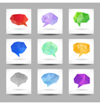 Set of speech bubbles with abstract triangles vector image vector image