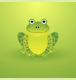 small green frog on a light background vector image